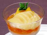大根のムース 白桃 マンゴー