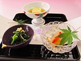 南蛮漬 旬の野菜のお浸し 玉子豆富