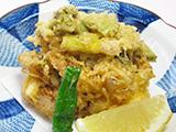 烏賊と筍と野菜のかき揚げ
